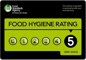 Food Standards Agency award logo- 5 out of 5